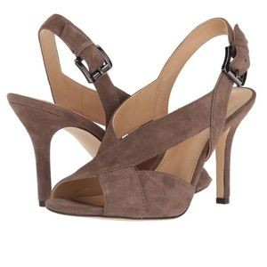 Michael Kors Taupe Suede Becky Sandal NWT ❤️❤️❤️